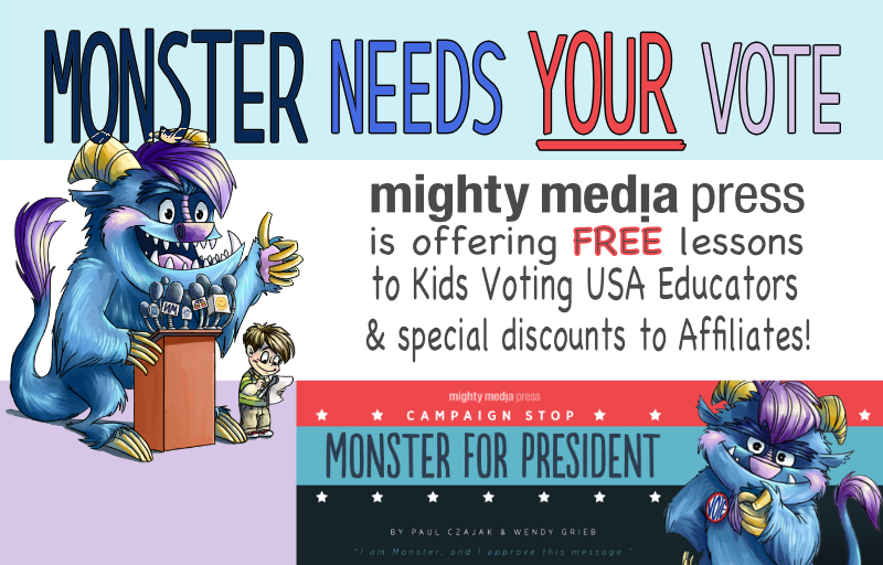 KIDS VOTING THANKS MIGHTY MEDIA PRESS